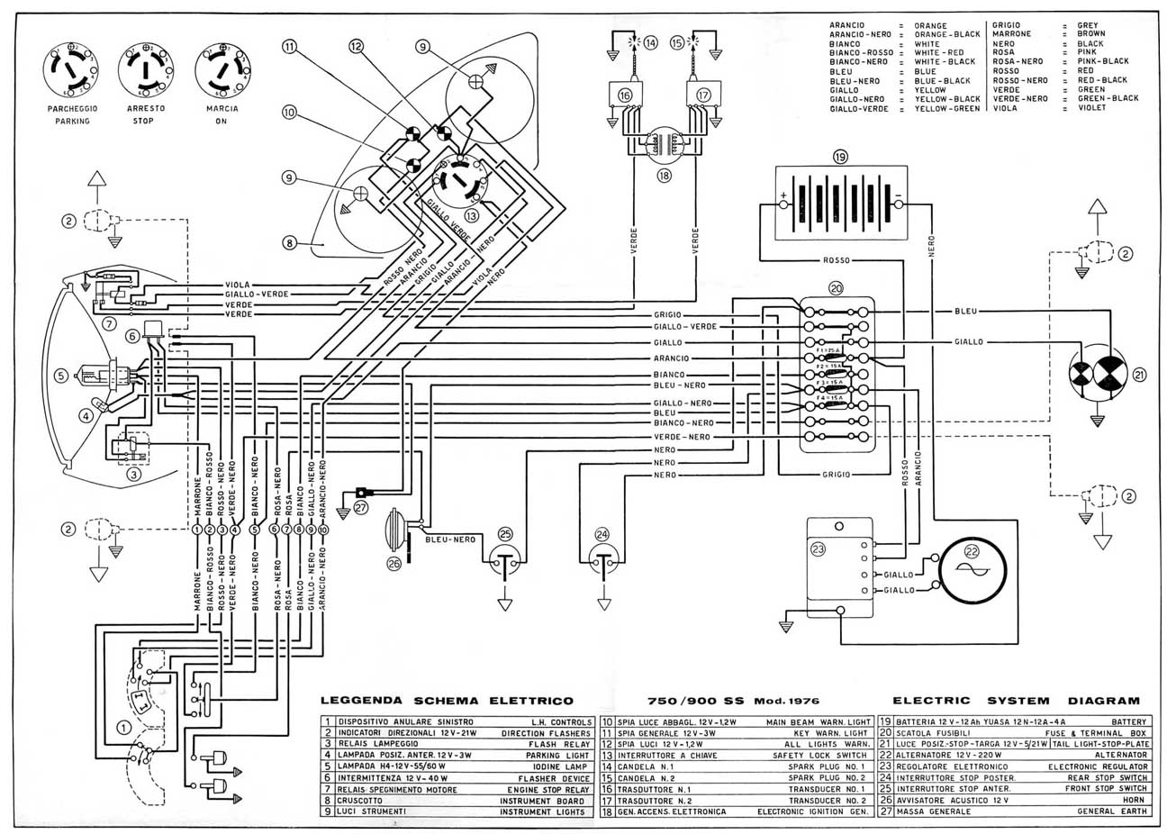 wiring diagram 1975 77 750 900 ss workshop manual 1978 900